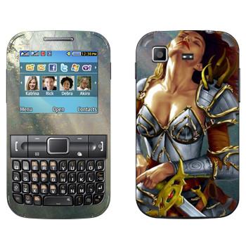 Виниловая наклейка «Neverwinter Девушка-воин» на телефон Samsung C3222 Duos