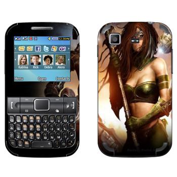 Виниловая наклейка «Neverwinter Женщина-воин» на телефон Samsung C3222 Duos