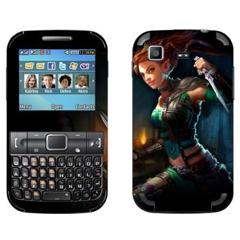 Виниловая наклейка «Neverwinter Зеленый Эльф» на телефон Samsung C3222 Duos