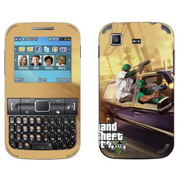 Виниловая наклейка «Нигеры с узи - GTA5» на телефон Samsung C3222 Duos