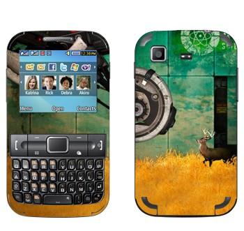 Виниловая наклейка «Олень - Portal 2» на телефон Samsung C3222 Duos