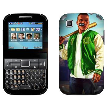 Виниловая наклейка «Парень с битой - GTA 5» на телефон Samsung C3222 Duos
