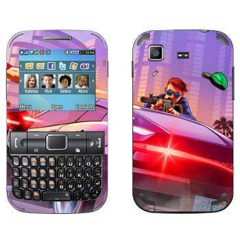 Виниловая наклейка «Перестрелка - GTA 5» на телефон Samsung C3222 Duos