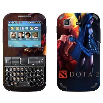 Виниловая наклейка «Пламя и вода - Dota 2» на телефон Samsung C3222 Duos