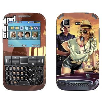 Виниловая наклейка «Полиция GTA» на телефон Samsung C3222 Duos