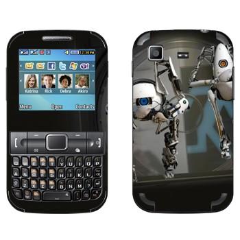 Виниловая наклейка «Роботы из Portal 2» на телефон Samsung C3222 Duos