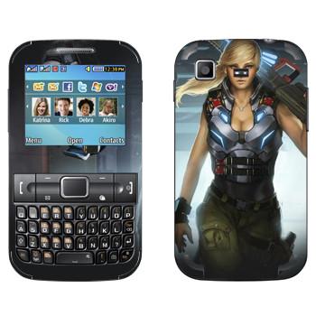 Виниловая наклейка «Shards of war Джемини» на телефон Samsung C3222 Duos