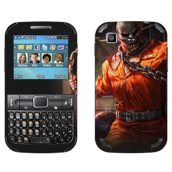 Виниловая наклейка «Shards of war Рино» на телефон Samsung C3222 Duos