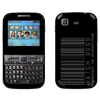 Виниловая наклейка «Штрихкод - Watch Dogs» на телефон Samsung C3222 Duos