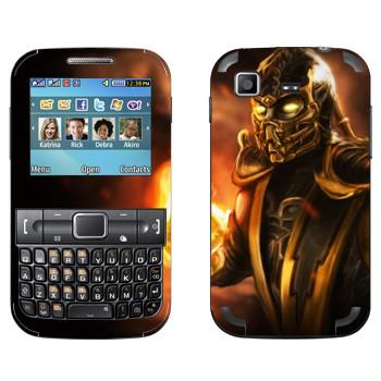 Виниловая наклейка «Скорпион Mortal Kombat» на телефон Samsung C3222 Duos