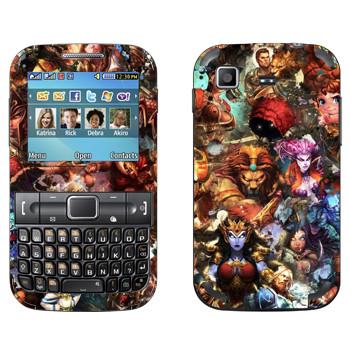 Виниловая наклейка «Smite : Все боги» на телефон Samsung C3222 Duos