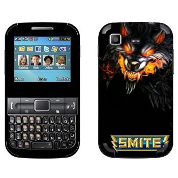 Виниловая наклейка «Smite Wolf» на телефон Samsung C3222 Duos