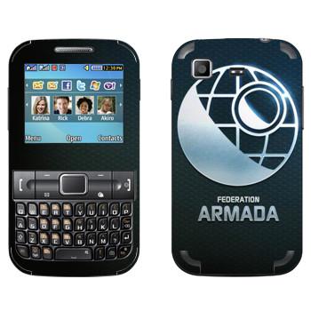 Виниловая наклейка «Star conflict Armada» на телефон Samsung C3222 Duos