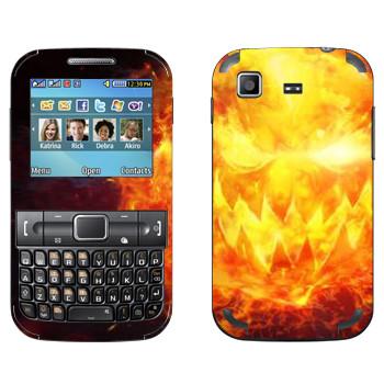 Виниловая наклейка «Star conflict Fire» на телефон Samsung C3222 Duos