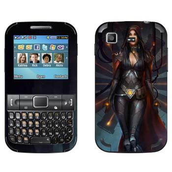 Виниловая наклейка «Star conflict girl» на телефон Samsung C3222 Duos