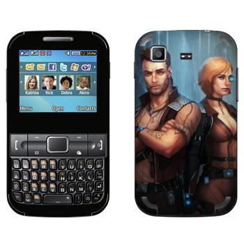 Виниловая наклейка «Star Conflict Солдаты» на телефон Samsung C3222 Duos