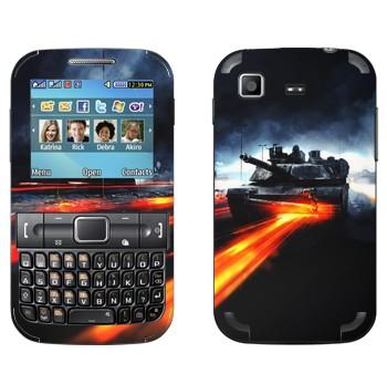 Виниловая наклейка «Танк Абрамс - Battlefield» на телефон Samsung C3222 Duos