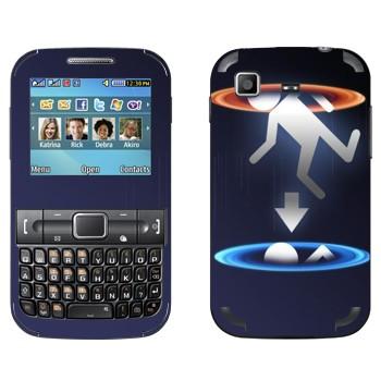 Виниловая наклейка «Телепортация - Portal 2» на телефон Samsung C3222 Duos