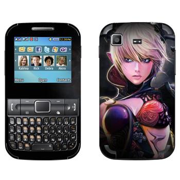 Виниловая наклейка «Tera Castanic girl» на телефон Samsung C3222 Duos