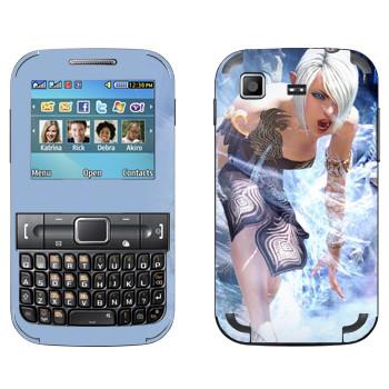 Виниловая наклейка «Tera Elf cold» на телефон Samsung C3222 Duos