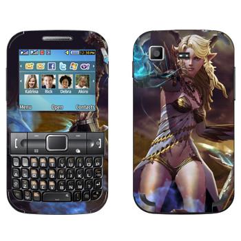 Виниловая наклейка «Tera girl» на телефон Samsung C3222 Duos
