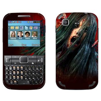 Виниловая наклейка «The Evil Within - Девушка-зомби» на телефон Samsung C3222 Duos