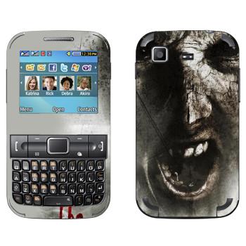 Виниловая наклейка «The Evil Within - Лицо зомби» на телефон Samsung C3222 Duos