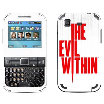 Виниловая наклейка «The Evil Within - Логотип» на телефон Samsung C3222 Duos