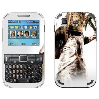 Виниловая наклейка «The Evil Within - Монстр с сейфом на голове» на телефон Samsung C3222 Duos