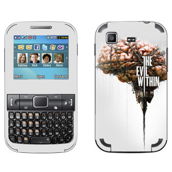Виниловая наклейка «The Evil Within - Мозг» на телефон Samsung C3222 Duos