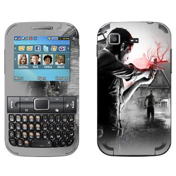 Виниловая наклейка «The Evil Within - Стрельба» на телефон Samsung C3222 Duos