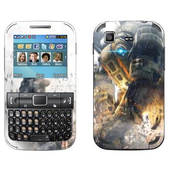 Виниловая наклейка «Titanfall бой роботов» на телефон Samsung C3222 Duos