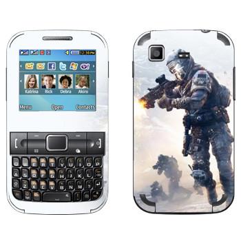 Виниловая наклейка «Titanfall бой» на телефон Samsung C3222 Duos