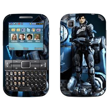 Виниловая наклейка «Titanfall девушка и робот» на телефон Samsung C3222 Duos