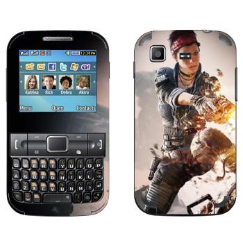 Виниловая наклейка «Titanfall женщина-воин» на телефон Samsung C3222 Duos