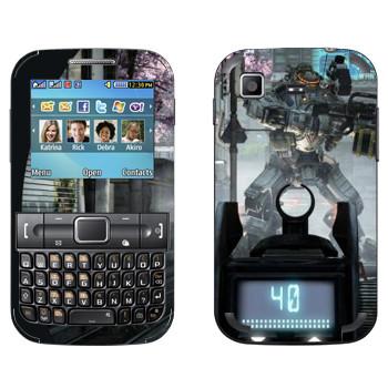 Виниловая наклейка «Titanfall робот на прицеле» на телефон Samsung C3222 Duos
