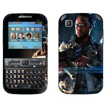 Виниловая наклейка «Titanfall темнокожий боец» на телефон Samsung C3222 Duos