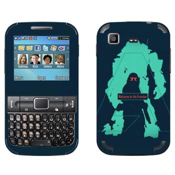 Виниловая наклейка «Titanfall тень» на телефон Samsung C3222 Duos
