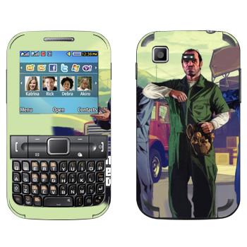 Виниловая наклейка «Тревор с маской - GTA5» на телефон Samsung C3222 Duos