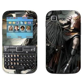Виниловая наклейка «Воин на черном коне - Lineage II» на телефон Samsung C3222 Duos