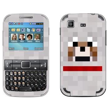 Виниловая наклейка «Волк - Minecraft» на телефон Samsung C3222 Duos