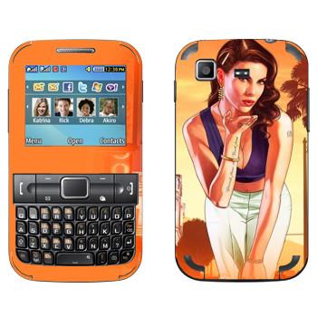 Виниловая наклейка «Воздушный поцелуй - GTA 5» на телефон Samsung C3222 Duos