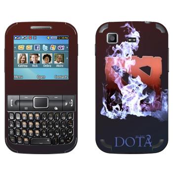 Виниловая наклейка «We love Dota 2» на телефон Samsung C3222 Duos