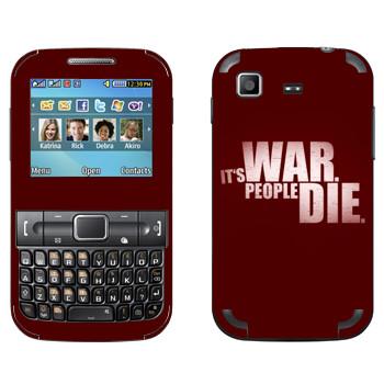 Виниловая наклейка «Wolfenstein - Это война. Люди погибают» на телефон Samsung C3222 Duos
