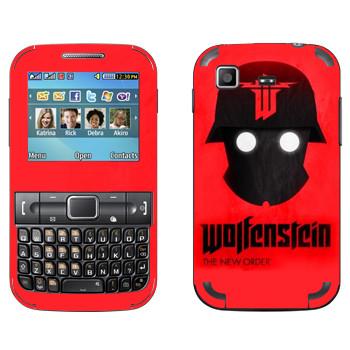 Виниловая наклейка «Wolfenstein - Шлем» на телефон Samsung C3222 Duos