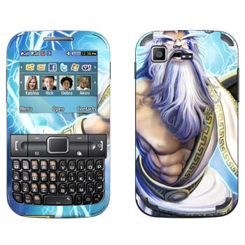 Виниловая наклейка «Zeus : Smite Gods» на телефон Samsung C3222 Duos