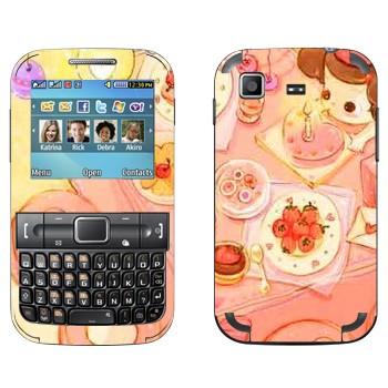 Виниловая наклейка «День рождения» на телефон Samsung C3222 Duos