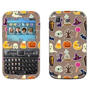 Виниловая наклейка «Хэллоуин обложка» на телефон Samsung C3222 Duos