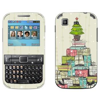 Виниловая наклейка «Новогодние подарки» на телефон Samsung C3222 Duos