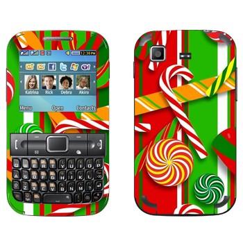 Виниловая наклейка «Новогодние сладости» на телефон Samsung C3222 Duos